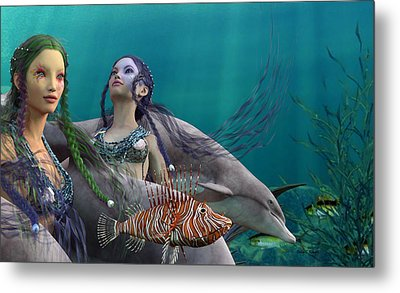 Under The Sea  Metal Print by Betsy C Knapp
