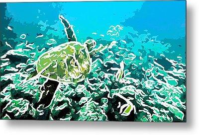 Underwater Landscape 1 Metal Print by Lanjee Chee