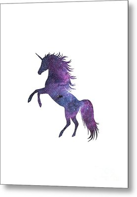 Unicorn In Space-transparent Background Metal Print by Jacob Kuch