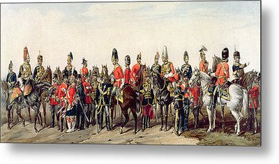 Uniforms Of The British Army Metal Print by English School