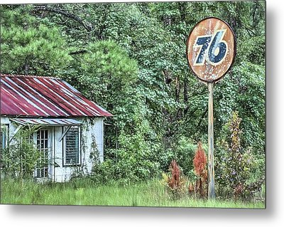 Union 76 Station Metal Print by JC Findley
