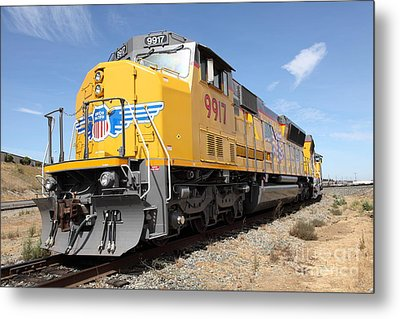 Union Pacific Locomotive Train - 5d18640 Metal Print by Wingsdomain Art and Photography