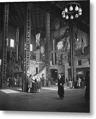 Union Station Train Concourse Metal Print by Jack Delano