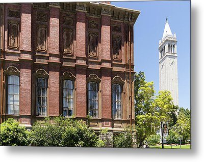 University Of California Berkeley Historic South Hall And The Campanile Dsc4054 Metal Print by Wingsdomain Art and Photography