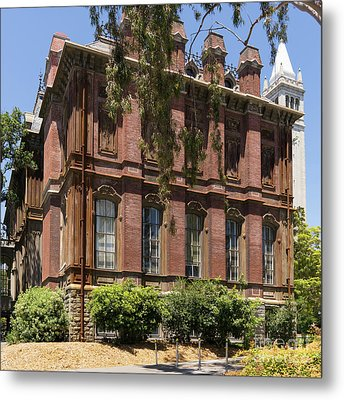 University Of California Berkeley Historic South Hall And The Campanile Dsc4058 Square Metal Print by Wingsdomain Art and Photography