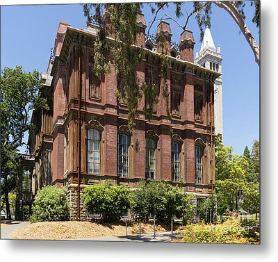 University Of California Berkeley Historic South Hall And The Campanile Dsc4058 Metal Print by Wingsdomain Art and Photography
