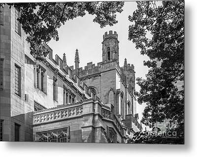 University Of Chicago Collegiate Architecture Metal Print by University Icons