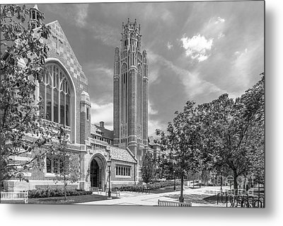 University Of Chicago Saieh Hall For Economics Metal Print by University Icons