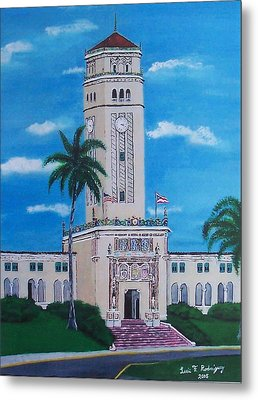 University Of Puerto Rico Tower Metal Print by Luis F Rodriguez