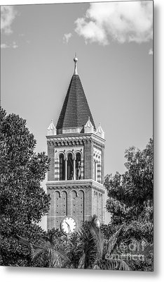 University Of Southern California Clock Tower Metal Print by University Icons