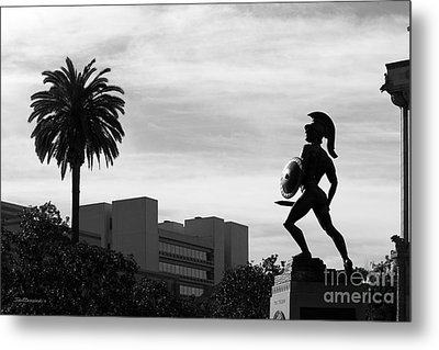 University Of Southern California Tommy Trojan Metal Print by University Icons
