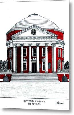 University Of Virginia Metal Print by Frederic Kohli