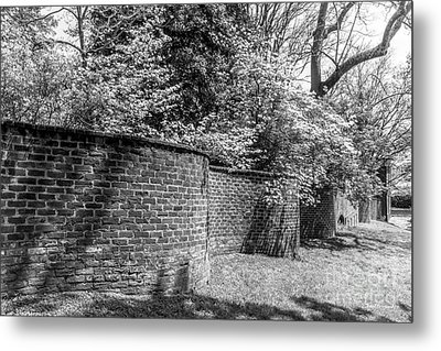 University Of Virginia Serpentine Garden Wall Metal Print by University Icons