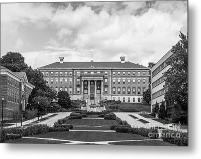 University Of Wisconsin Madison Agricultural Hall Metal Print by University Icons