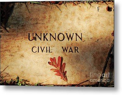 Unknown Civil War Metal Print by Kathleen K Parker