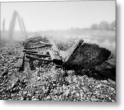Unknown Shipwreck  Metal Print by Dapixara Art