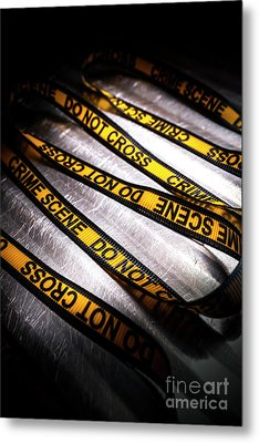 Unravelling Crime Investigation Metal Print by Jorgo Photography - Wall Art Gallery
