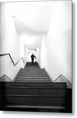 Up Stairs Metal Print by Artecco Fine Art Photography