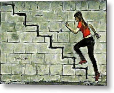 Up Stairs Metal Print by Leonardo Digenio