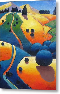 Uphill Climb Revisited. Metal Print by Gary Coleman