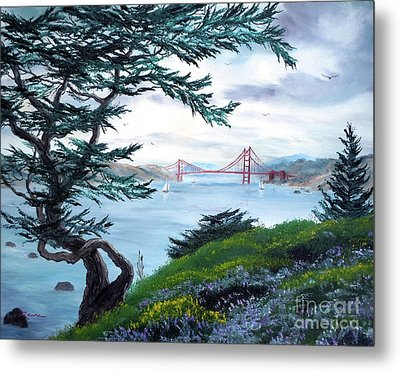 Upon Seeing The Golden Gate Metal Print by Laura Iverson
