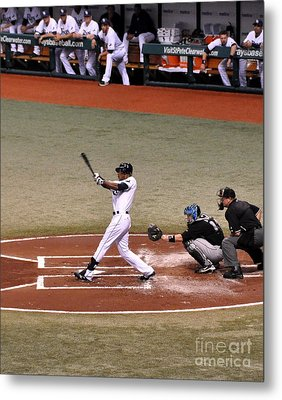 Upton At The Plate Metal Print by John Black