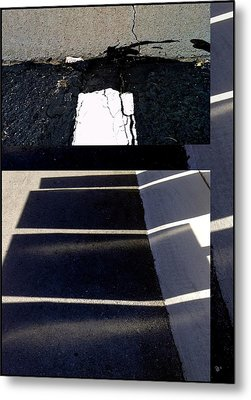 Urban Abstract Seeing Double 65 Metal Print by Marlene Burns