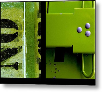Urban Abstracts Seeing Double 40 Metal Print by Marlene Burns