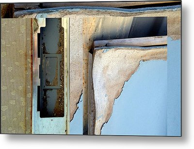 Urban Abstracts Seeing Double 52 Metal Print by Marlene Burns
