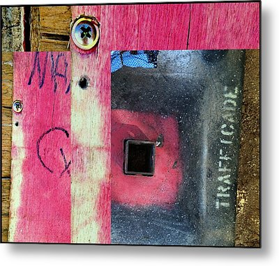 Urban Abstracts Seeing Double 54 Metal Print by Marlene Burns