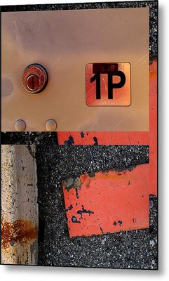 Urban Abstracts Seeing Double 55 Metal Print by Marlene Burns