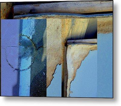 Urban Abstracts Seeing Double 62 Metal Print by Marlene Burns