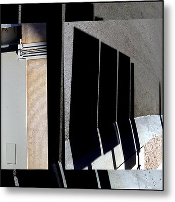Urban Abstracts Seeing Double 64 Metal Print by Marlene Burns