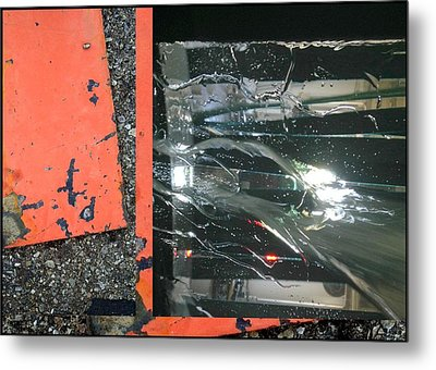 Urban Abstracts Seeing Double 67 Metal Print by Marlene Burns