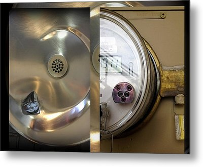 Urban Abstracts Seeing Double 76 Metal Print by Marlene Burns