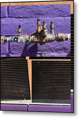 Urban Abstracts Seeing Double 79 Metal Print by Marlene Burns