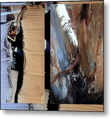 Urban Abstracts Seeing Double 80 Metal Print by Marlene Burns
