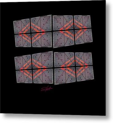Urban Break-up Metal Print by Charles Stuart