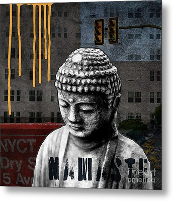 Urban Buddha  Metal Print by Linda Woods