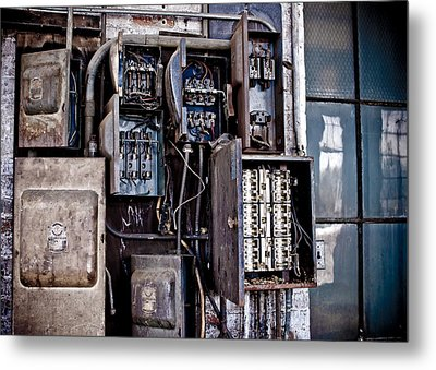Urban Decay  Fuse Box Metal Print by Edward Myers