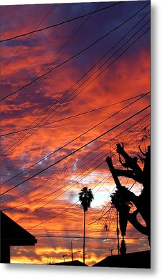 Urban Sunrise Metal Print by Shannon McMannus