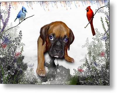 Ursula Uma And The Underdog Metal Print by Julie L Hoddinott