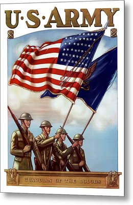 Us Army -- Guardian Of The Colors Metal Print by War Is Hell Store