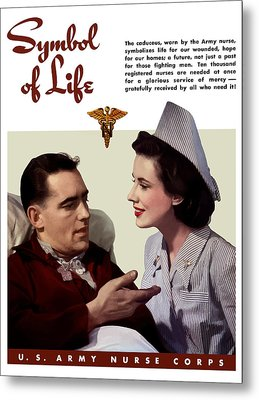 Us Army Nurse Corps Metal Print by War Is Hell Store