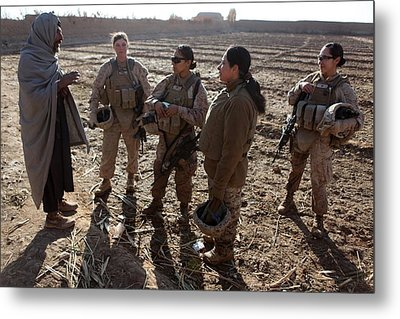 U.s. Marines In Afghanistan Assigned Metal Print by Everett