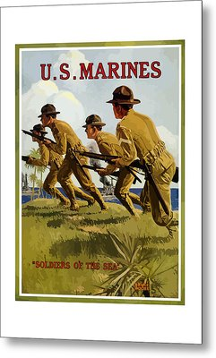 Us Marines - Soldiers Of The Sea Metal Print by War Is Hell Store