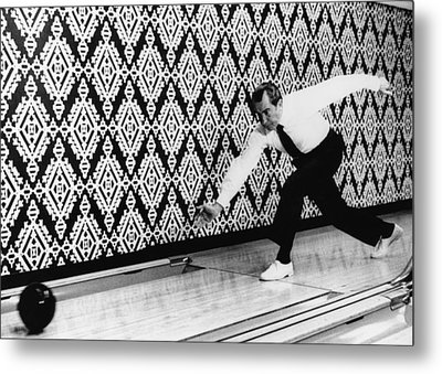 U.s. President Richard Nixon, Bowling Metal Print by Everett