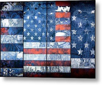 Usa Flag 11 Metal Print by MB Art factory
