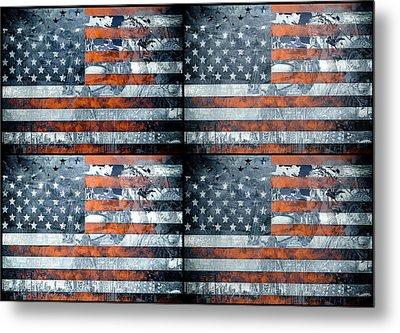 Usa Flag 9 Metal Print by MB Art factory