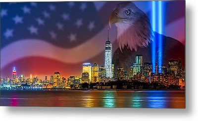 Usa Land Of The Free Metal Print by Susan Candelario